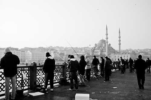 Morning at the Galata Bridge